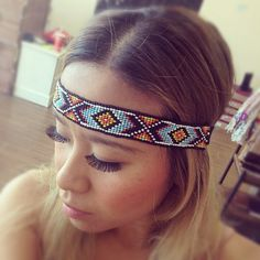 Beaded Native American Headband--- love these! they make my appear less obvious :) Native American Girls, Native American Design, Native Design, Native American Crafts, Native American Beadwork, American Art, Indian Costumes, Festival Costumes, Indian Makeup