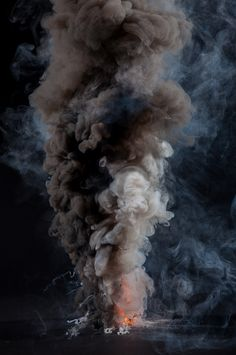 The pyromaniac in me loves these dramatic swirly images of fire and smoke. They are part of 'Controlled Burns', a photo series by photographer Kevin Cooley. Cooley was inspired by