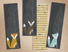 Printable fox bookmarks. How About Orange Blog