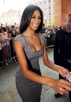 Nicole Scherzinger, love the dress.