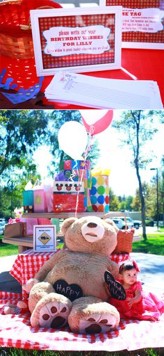 Teddy Bear Picnic themed First Birthday Party • The Wise Baby