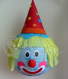 fun pinata to bash. clowns are freaky anyhoo!