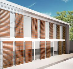 would be great on prow windows mounted on a slider track to reduce bird strikes, provide shade & preserve view when needed!!! -Sunscreen Grid and Brise-Soleil – Sistemi oscuranti by Uniform