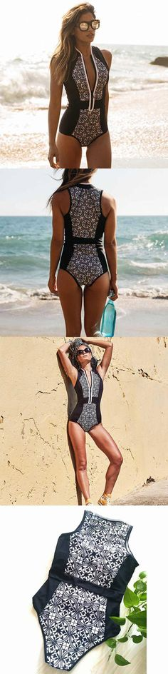 Women's Bikini One Piece Swimwear Push-Up Bandage Monokini Quilted Apparel