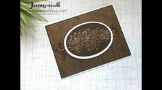Wood Words natural tones using Stampin Up products with Jenny Hall