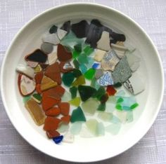Handmade by Amo'r, Ireland: How to Clean Seaglass and Beach Worn Pottery