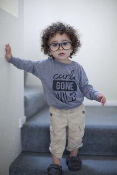 curly hair boy