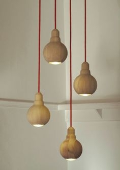 Check out the Lite-Wooden Bulb Pendant Lamp in Lighting, Pendant Lights from Couleur Locale for Wood Turning Projects, Lathe Projects, Diy Projects, Light Fittings, Elle Decor, Lampshades, Light Shades, Interior Lighting, Hanging Lights