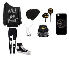 """""""Untitled #22"""" by darksoul7 ❤ liked on Polyvore featuring Converse and Phase 3"""