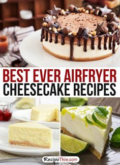 Airfryer Recipes | best ever Airfryer CheeseCake Dessert Recipes from RecipeThis.com