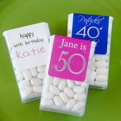 Personalized Birthday Tic Tacs Favor for Adult birthday or Kids birthday or Bar Mitzvah (($))