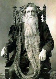 Circus Oddities | ... Awesome Man with Longest Beard Circus Freak Cabinet Card Photo | eBay