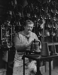 Woman Worker in Stocking Factory, ca. 1950