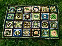 I'd really like to do this free crochet afghan sampler.