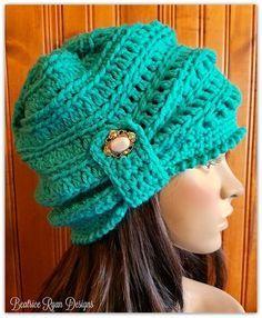 The Wintertide Beanie By Elena Hunt - Free Crochet Pattern - (ravelry)  Sombreros De 856bc081728