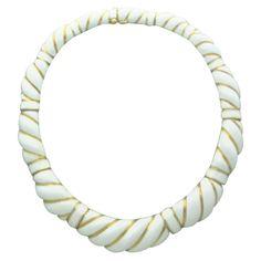 David Webb Gold Enamel Necklace.