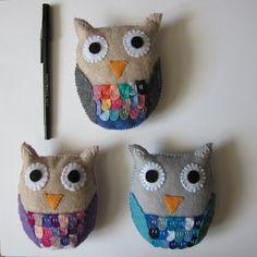 Felt plush woodland owls