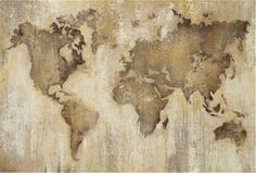Great Big Canvas 'Map of the World' by Liz Jardine Painting Print Format: Canvas, Size: H x W x D Painting Prints, Wall Art Prints, Poster Prints, Canvas Prints, Print Map, Paintings, Cool World Map, World Map Wall Art, Antique World Map