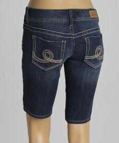 Look what I found on #zulily! Castle Blue Whiskered Bermuda Shorts #zulilyfinds