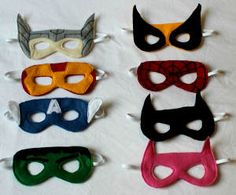 Fantastic Felt Superhero Masks