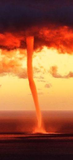 Orange sky. Orange tornado. Whoa.