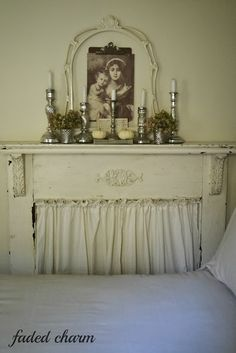 I would like to do something like this with the mantle my grandparents were married in front of.