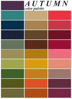 Autumn color palette - for the capsule wardrobe - she shows everything! Autumn color palette - for the capsule wardrobe - she shows everything! Color Me Beautiful, Colour Schemes, Color Combos, Colour Chart, Pantone, Minimalist Beauty, Minimalist Fashion, Fall Color Palette, Colour Palettes
