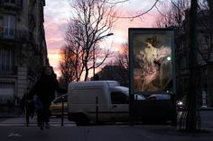 "In a new project called ""OMG, Who Stole My Ads?"" French street artist Etienne Lavie makes it his mission to transform the ad space in Paris into an outdoor art gallery. He has been travelling around the city, snatching up posters and billboards, and replacing them with fine specimens of French art from an earlier era."