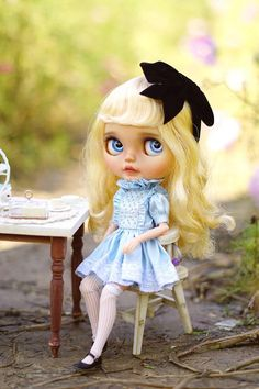 Frozen Sapphire Blythe Dolls Dress Set