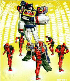 Dōmo arigatō Mr.Roboto! #Deadpool #Soundwave #Transformers #MrRoboto #80smusic #80stoys #DanceMoves #DoTheRobot