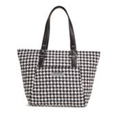 Be Colorful Tote in Midnight Houndstooth   Vera Bradley