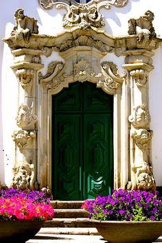 baroque door.. capela das malheiras : Viana do Castelo, Portugal