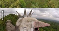 Mysterious abandoned 'Chicken Church' built in the Indonesian jungle by the man who had a vision from God. for http://ift.tt/2gUqHTb