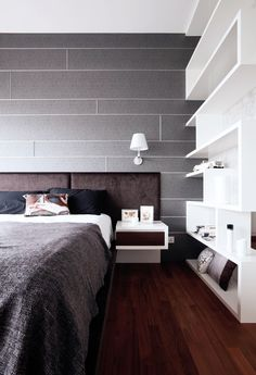 Titanium. This dark, metallic shade of grey is a cool masculine colour! Add this colour to a bedroom to give the room depth and character.