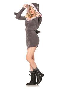Cozy Shark Dress Adult Womens Costume - 322687   trendyhalloween.com #halloweencostumes #sharks #womenscostumes #legavenue