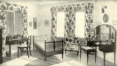Emily Post's Ideal Guest Room, 1922. My old bedroom at my dad's would be perfect for this.