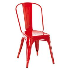 Chaise en métal rouge - Tolix - Marie Claire Maison-145euros - différentes couleurs