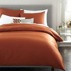 Tencel Duvet Cover, Full/Queen, Copper
