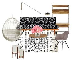 Guest Room by jennafarkas on Polyvore featuring interior, interiors, interior design, home, home decor, interior decorating, West Elm, Vitra, CB2 and INC International Concepts
