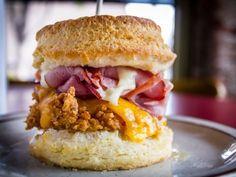 Denver: Denver Biscuit Company--buttermilk fried chicken, sharp cheddar cheese, honey butter, flash-griddled ham