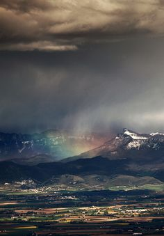storm chasing: mountain storm