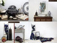 These Moroccan accessories will be the perfect blue touch to your living room. Moroccan Room, Gallery Wall, Living Room, Mood Boards, Frame, Blue, Touch, Home Decor, Accessories