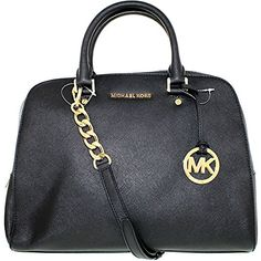 Michael Kors Jet Set Travel Large Satchel Handbag In Black *** Continue to the product at the image link.