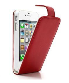 iPhone 4/4S Verticale Flip Case Rood