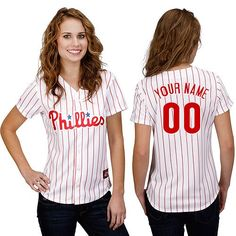 Women's Philadelphia Phillies Authentic Personalized Home White Baseball Jersey