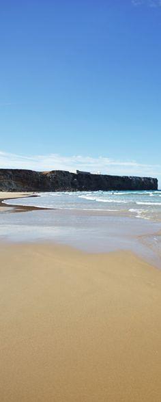 Portugal, Sagres - endless sandy beach facing the Atlantic