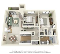 One, Two and Three Bedroom Apartments in Mountlake Terrace, WA | Floor Plans