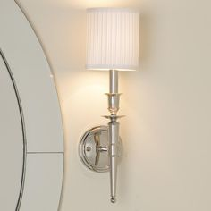 Master bath or powder room Long Arm Classic Connection Sconce - 1 Lt. (3 finishes!)