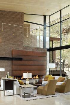 Tall ceilings and large window walls // Home 401 by Kevin B Howard Architects