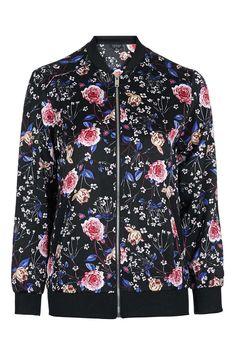 Floral Bomber Jacket - Jackets & Coats - Clothing - Topshop Europe